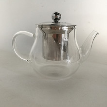 Clear Japanese Glass Teapot With Stainless Steel Infuser And Lid