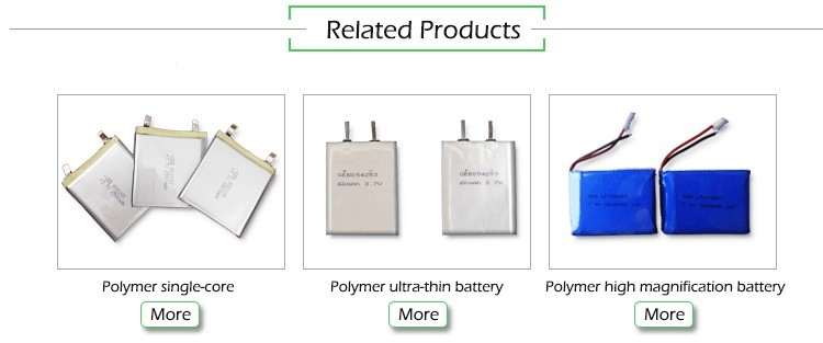 3.7V 650mAh Lithium Polymer Rechargeable Battery GEB772930