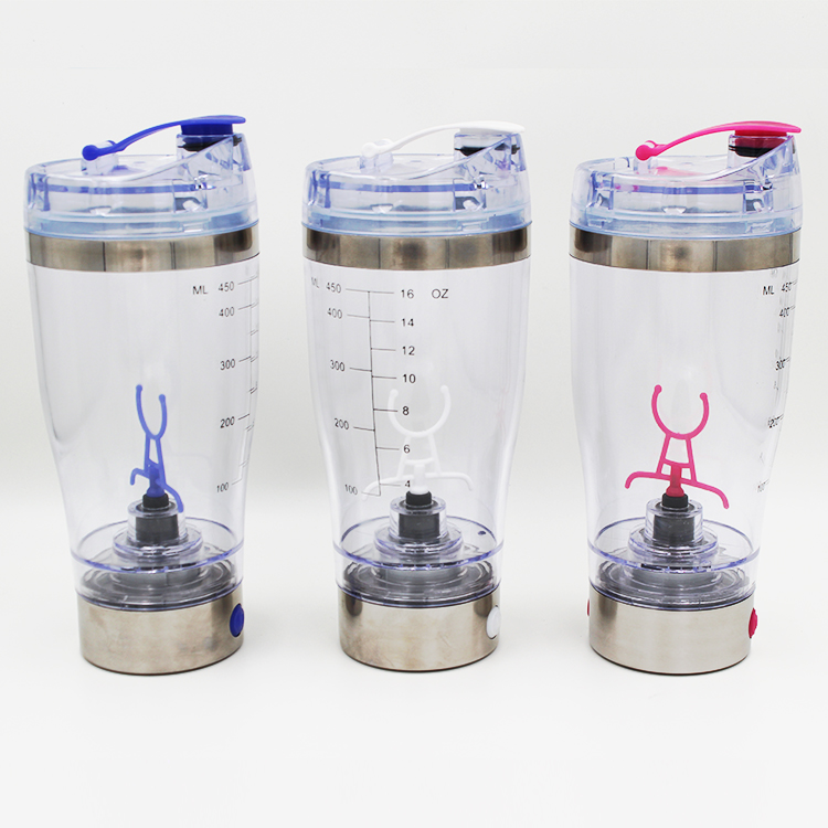 Stainless steel shaker with 450ML, electronic shaker cup with mixer,electric shaker bottle with USB