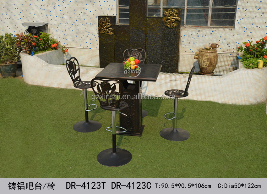 Precio de fábrica PE muebles de mimbre al aire libre patio jardín ...
