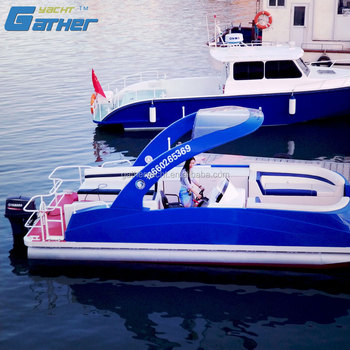 Gather Yacht Made In China new design 7.5m aluminum pontoon passenger boat for sale