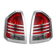 Car exterior accessories plastic chrome taillight/tail light trims for Chrysler 300c