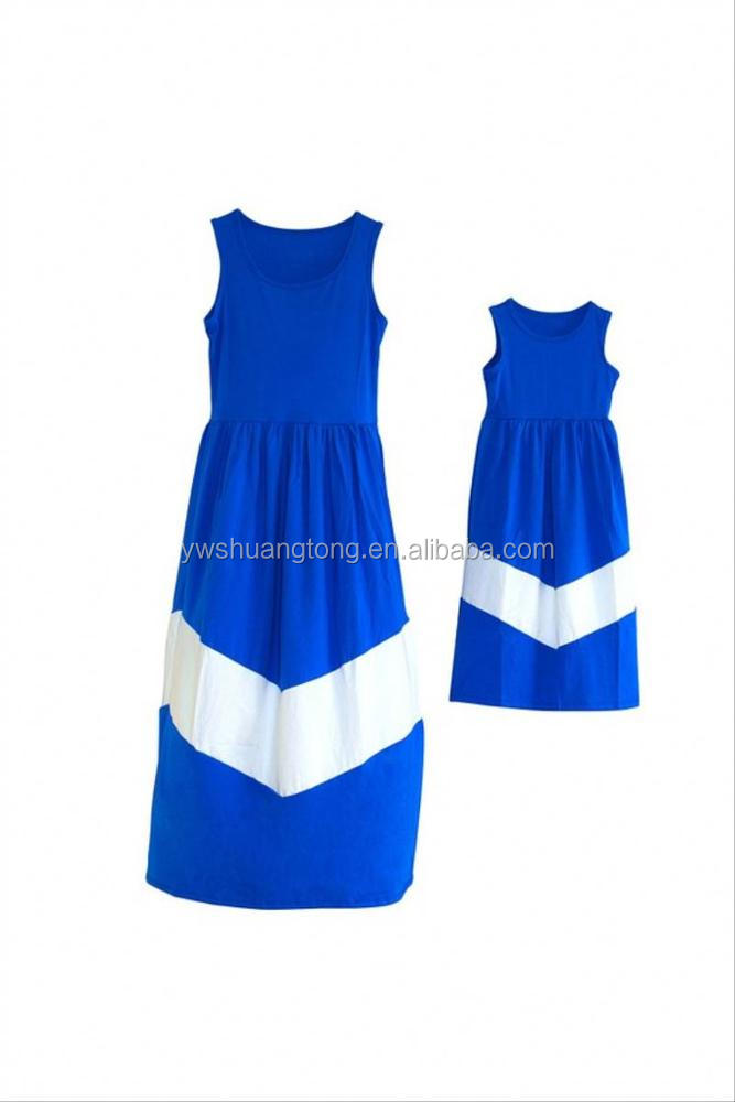 China Fashionable Promotion In-stock ladies western Mother and daughter outfit designs