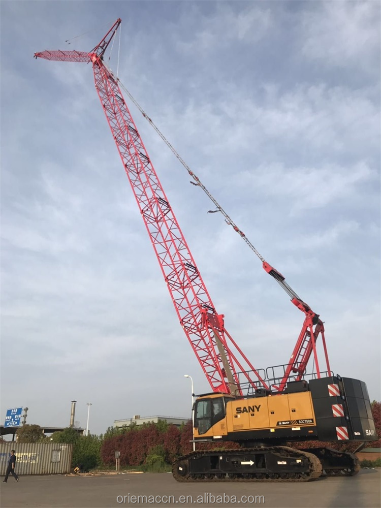 New Condition SANY SCC750A 75ton Hydraulic Crawler Cranes With Top Quality