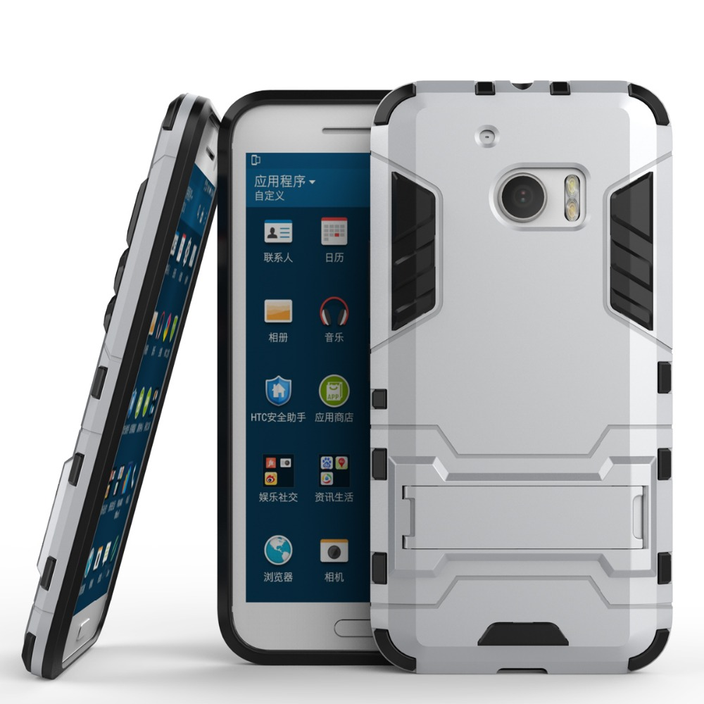 wholesale Shockproof Armor Protector TPU+PC 2in1 Stand Cover Hybrid Case for HTC <strong>m10</strong>