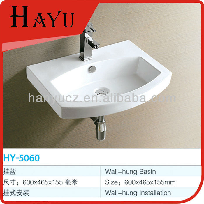 HY-5060 chinese antique bathroom rectangular porcelain sink