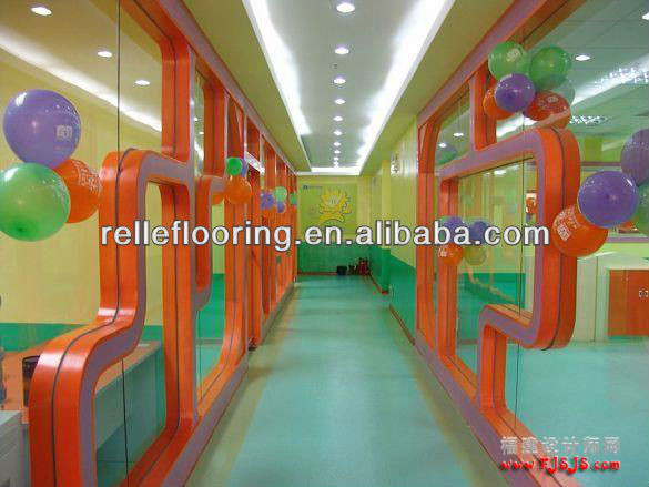 pvc foam flooring covering with excellent resilient for kindergarten