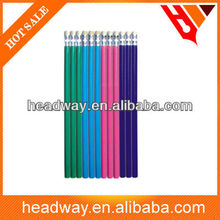 muti-color Wood HB Pencil with Eraser Top