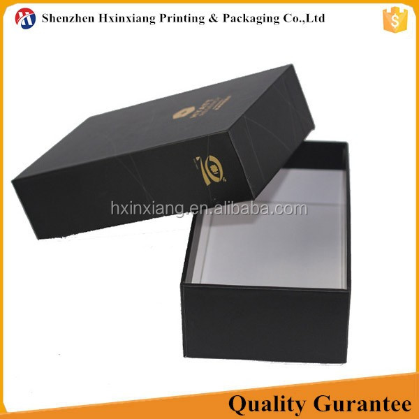 High quality customized small foil stamped black card box