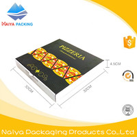 europe pattern customized disposable square corrugated kraft paper pizza box