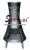 Shengri chiminea and outdoor fireplace