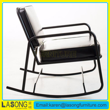 Lasong Modern wholesale metal iron relax inexpensive rocking chair