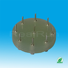 Customized Green Connector 9pin Straight DIP Round Female Header