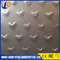 BAOSTEEL 321 checkered ASTM stainless steel plate