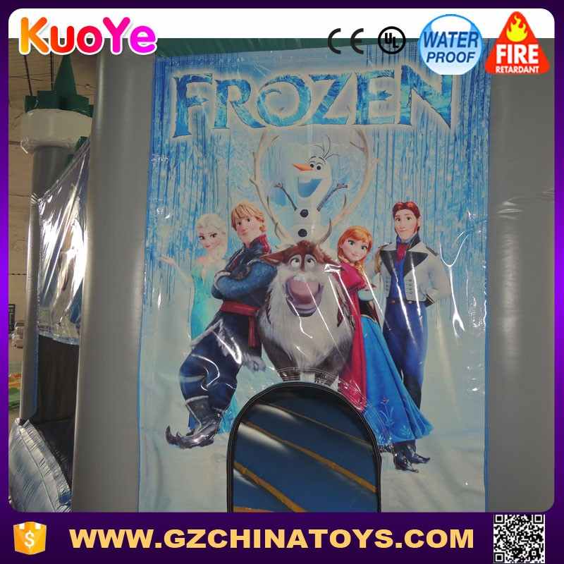 Commercial frozen bouncer inflatable bouncy castle with slide for sale