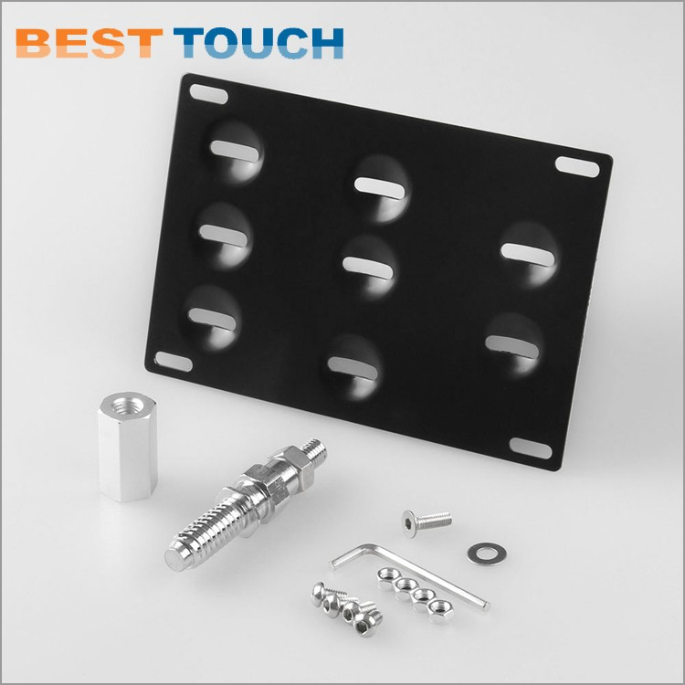 Best price front tow hook license plate relocator bracket For BMW 1 3 X5 X6