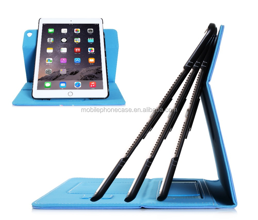 Exquisite Workmanship Stand And filp Wallet Cover Sublimation Custom PU Leather With Strap Tablet Case For Ipad 6
