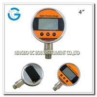 High quality 4 inch stainless steel digital vacuum pressure gauge with bottom mounting