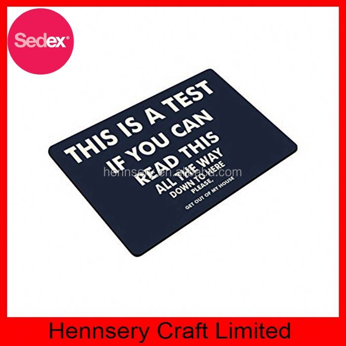 Personalized funny door mat,rubber badminton sports floor mat