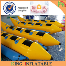 2017 Double Tubes Inflatable Ocean Rider Banana Boat With Repair Kit For 8 People Seat