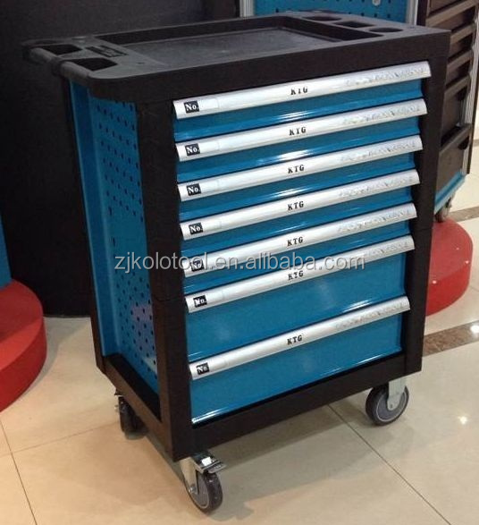 Swiss Kraft/Kraftwell Germany professional hand tools set in trolley cabinet electrical tools names