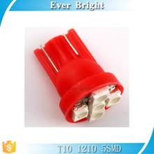 T10 12 v lamps,the bright led light of red T10 1210 5smd