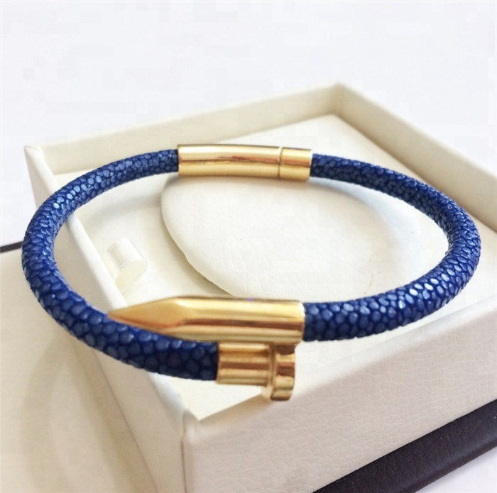 Best Sale Luxury Genuine Stingray Leather Bracelet _3