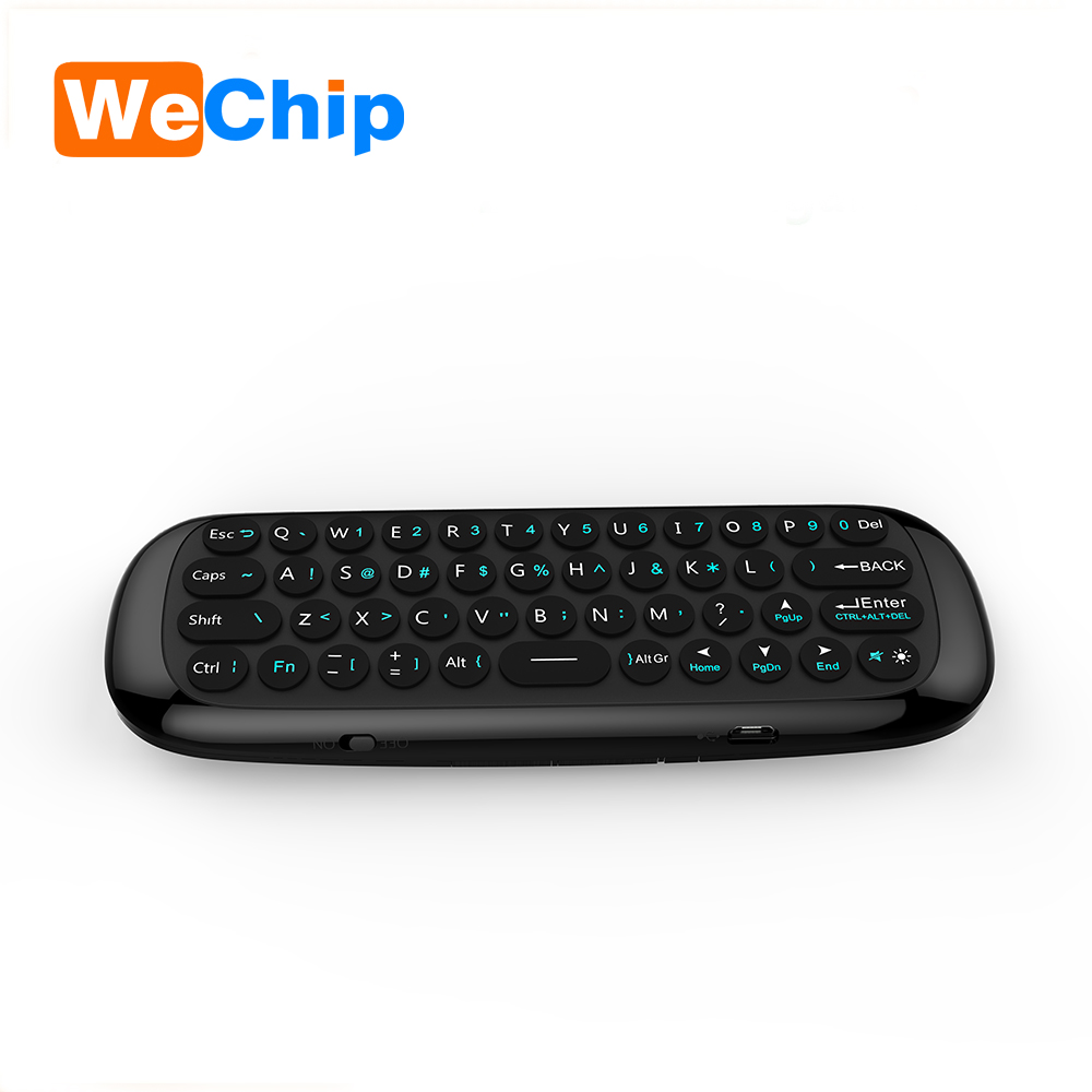 2017 chargable Dual Side 3D wireless Air fly Mouse mini keyboard C120 2.4g air gyro mouse for android tv box