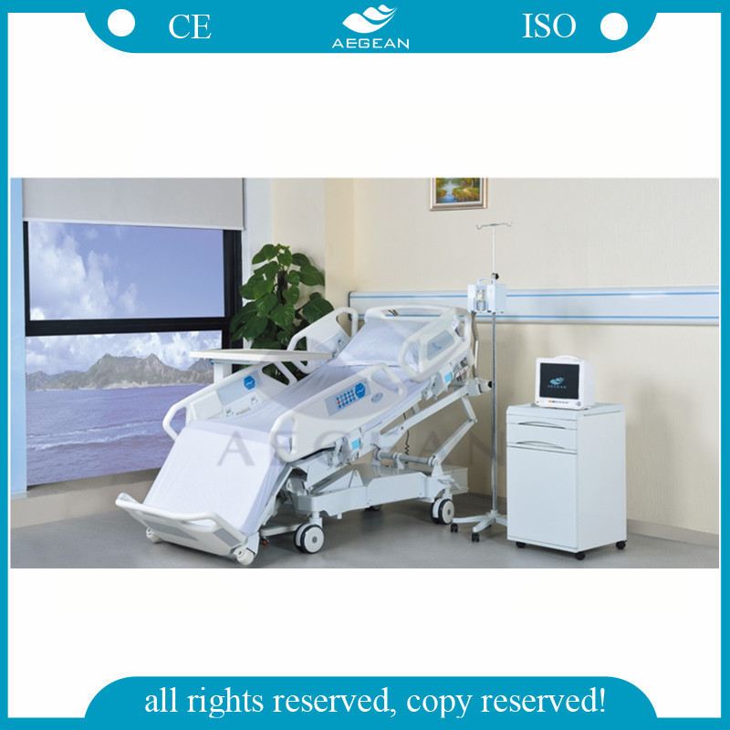 AG-BR001 With eight function hospital bed with commode cheap hospital bed