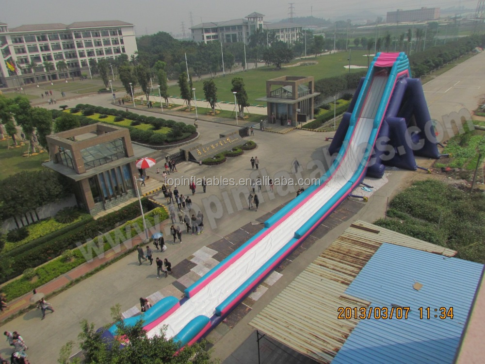 Top largest inflatable water slide lake inflatable water slides