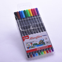 PVC bag pack Triangle fine liner, ultra fine liner pen set,art drawing Fineliner