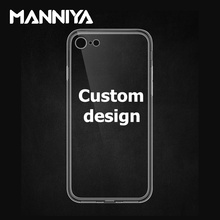 Custom design soft TPU phone case for iphone 7 8 Free shipping!