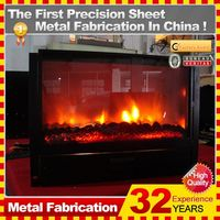 2014 customized ventless decor flame electric fireplace heater