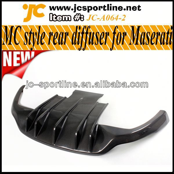 MC style GT Car Spoiler,Carbon Rear Diffuser for Maserati Gran Turismo GT