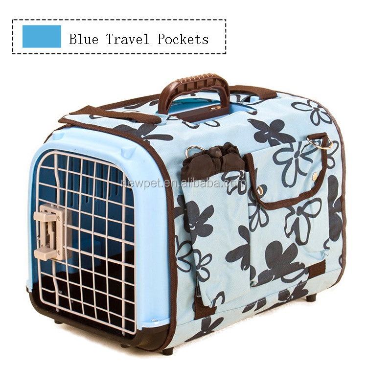 Special customized stylish u style pet air box unique large car carrier pet bag with travel pocket