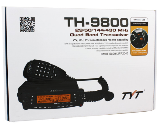 Hot sell transceiver TYT TH-9800 quad band transceiver with 50W Output Power