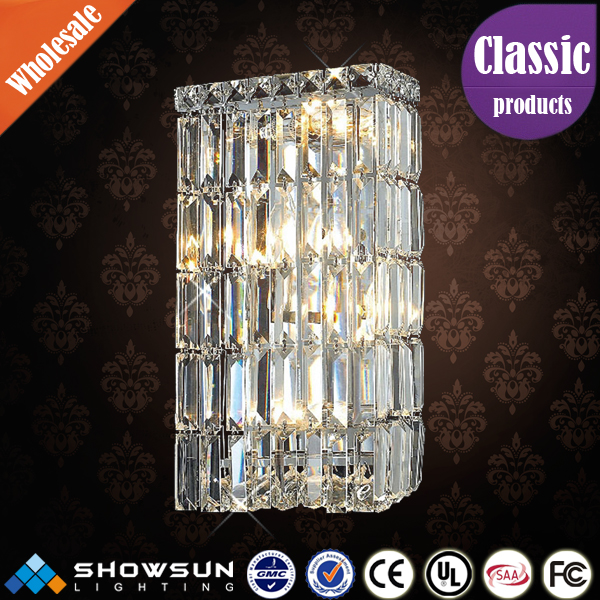 Zhongshan showsun lighting transparent wall sconce for decoration