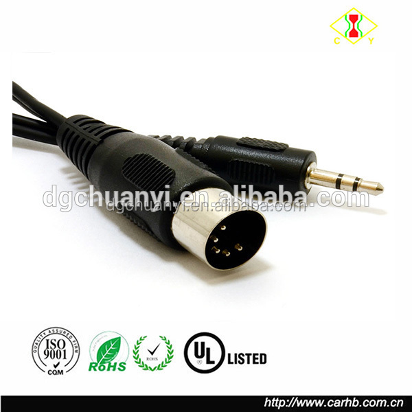 DIN 5 PIN MIDI JACK to 3.5MM STEREO JACK CABLE