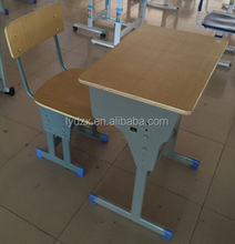 New best price with best quality for adjustable single student desk and chair school project use furniture