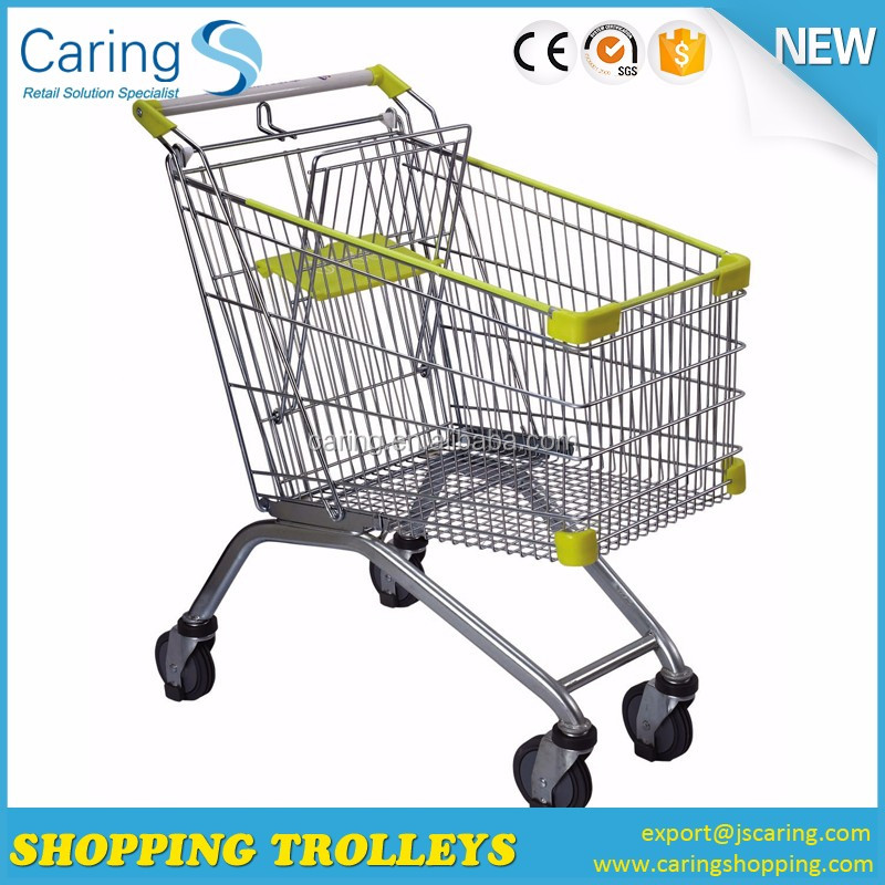 Besting selling and good quality Galvanized Supermarket Trolley