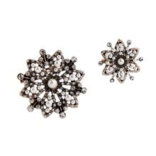 European style fashion accessories manufacturers selling retro hollow Pearl Flower 2 a lady Brooch