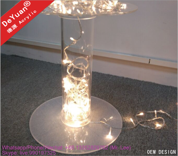 LED acrylic display cake stand for party