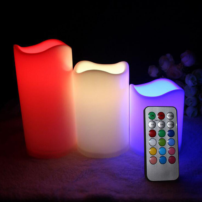 Cheap ABS Plastic Remote Control Flameless LED Candles with Timer