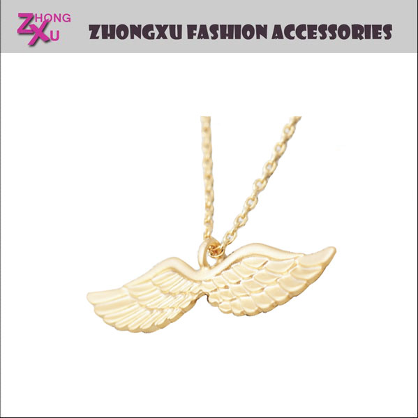 custom new gold angel wing necklace