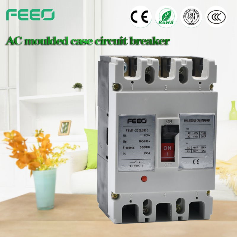 Low voltage Circuit Protect Automatic Reset MCCB 160amp 4p Reset MCCB Circuit Breake with overload protection