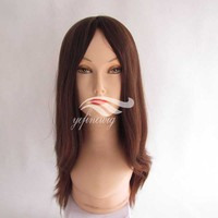 Wholesale Silk Top European Wwigs Human Hair Velvet Cap Jewish Wig