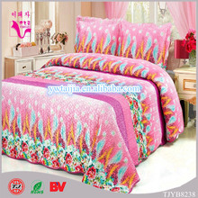 100% polyester mircofiber bedding set silk-like fabric disposable sheets and pillowcases