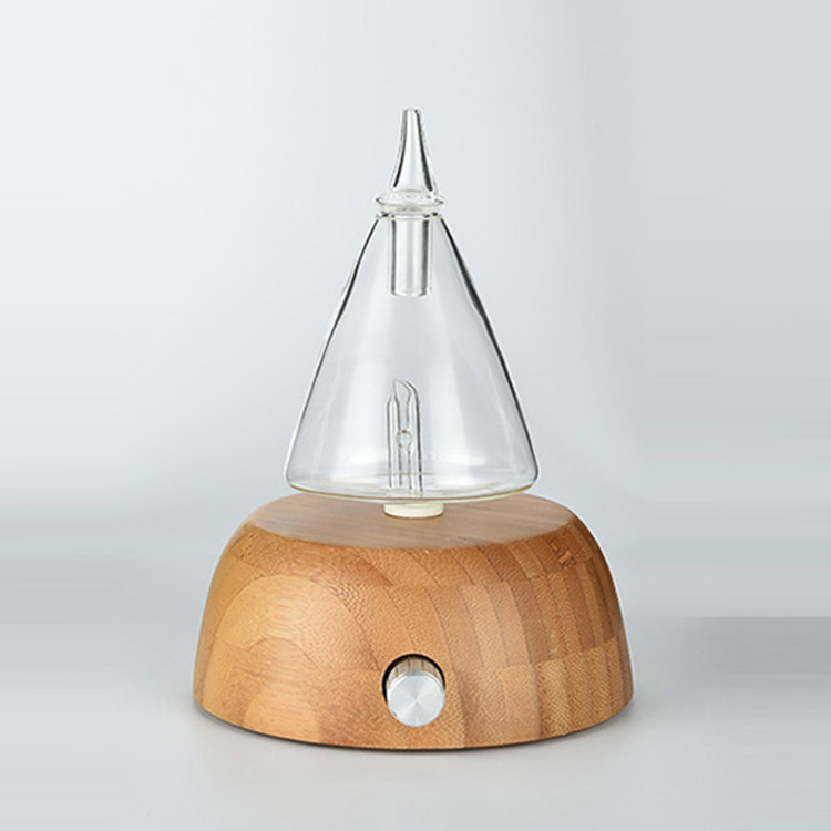 Glass and wooden Essential Oil Diffuser / Dispenser / Nebulizer In Stock FSL009