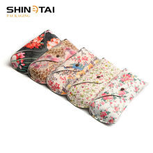 Popular Fashion Flower Pattern Eyeglass Box Soft Pu Leather Sunglass Case