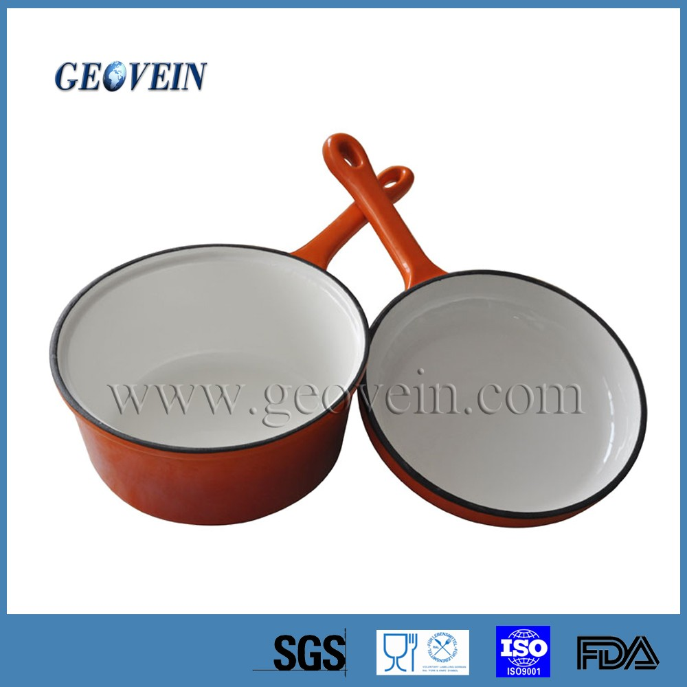 Multifunctional Enamel Cast Iron Cookware Mini Casserole Pots Sauce Pot